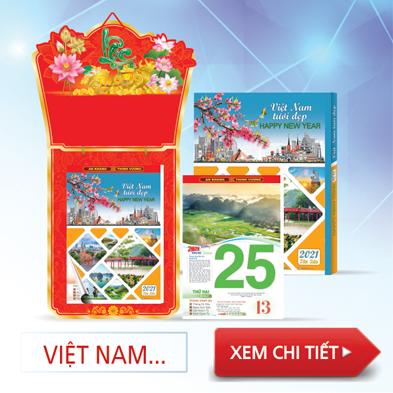 Lịch bloc Việt Nam tươi đẹp