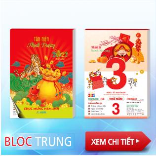 Bloc trung - Bloc giá rẻ nhất - 10,5x14,5cm