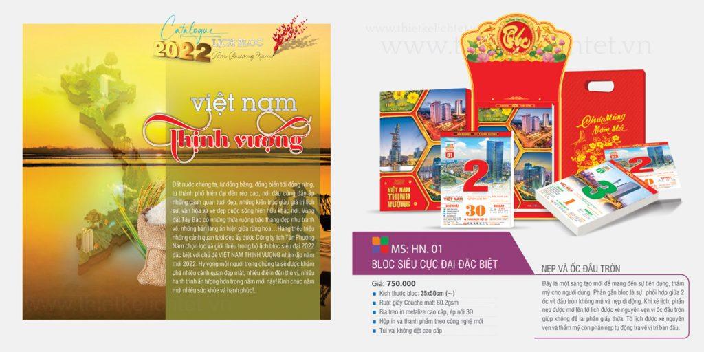 Bloc 38x53 - Việt Nam Thịnh Vượng
