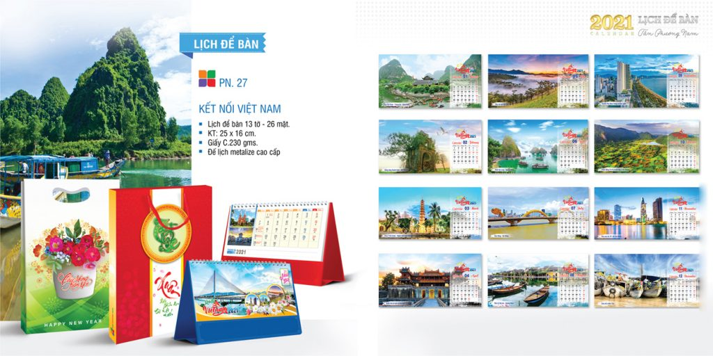 Lịch để bàn 2022- kết nối Việt Nam