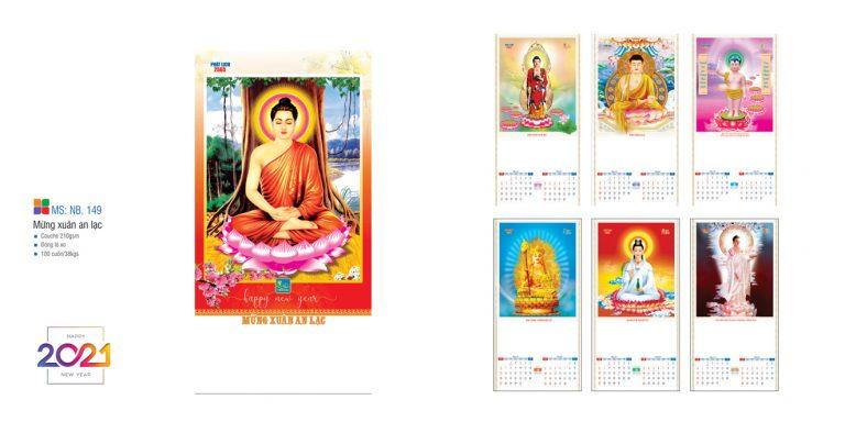 Mẫu lịch tết Phật giáo chủ