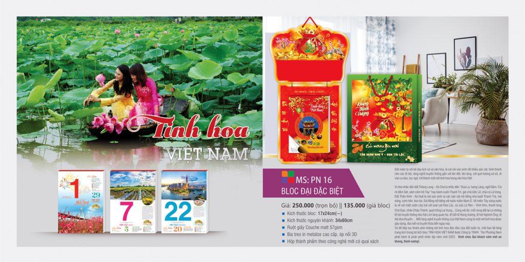 Lịch bloc đại đặc biệt 2022 - TINH HOA VIỆT NAM