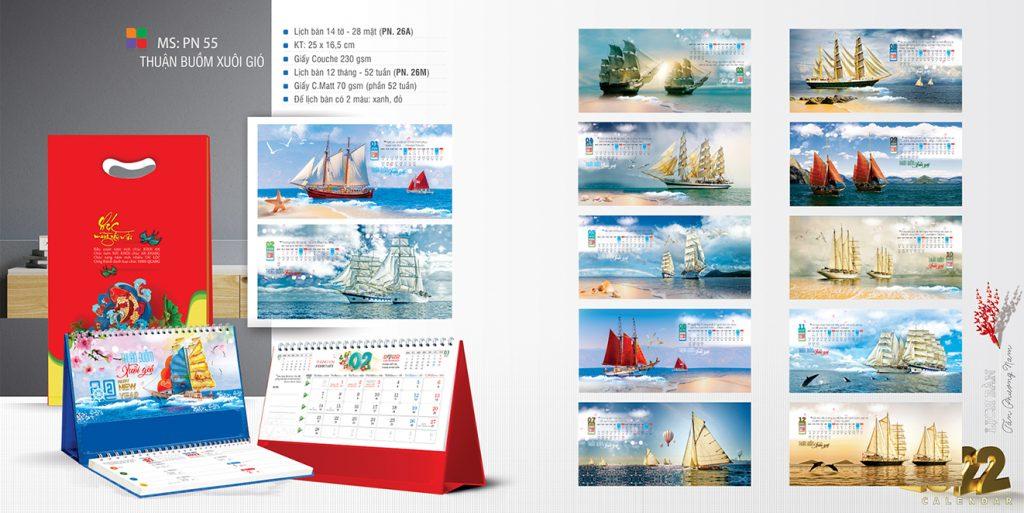 Lịch để bàn Thuận Buồm Xuôi Gió