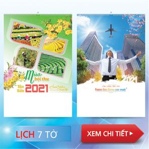 Lịch lò xo 7 tờ 2022